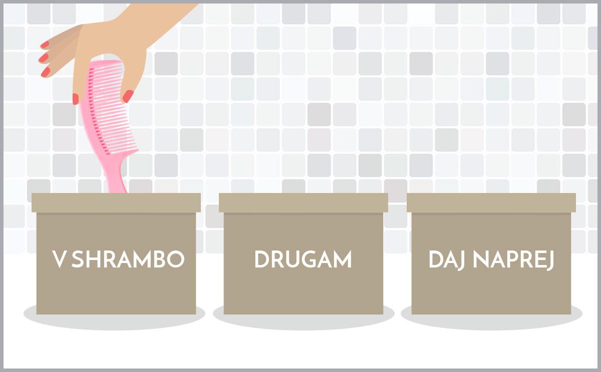 KOPALNICA: pospravite jo v treh preprostih korakih – razvrščanje