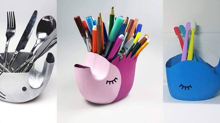 3 predlogi za ponovno uporabo plastične embalaže: slon, ježek in kit