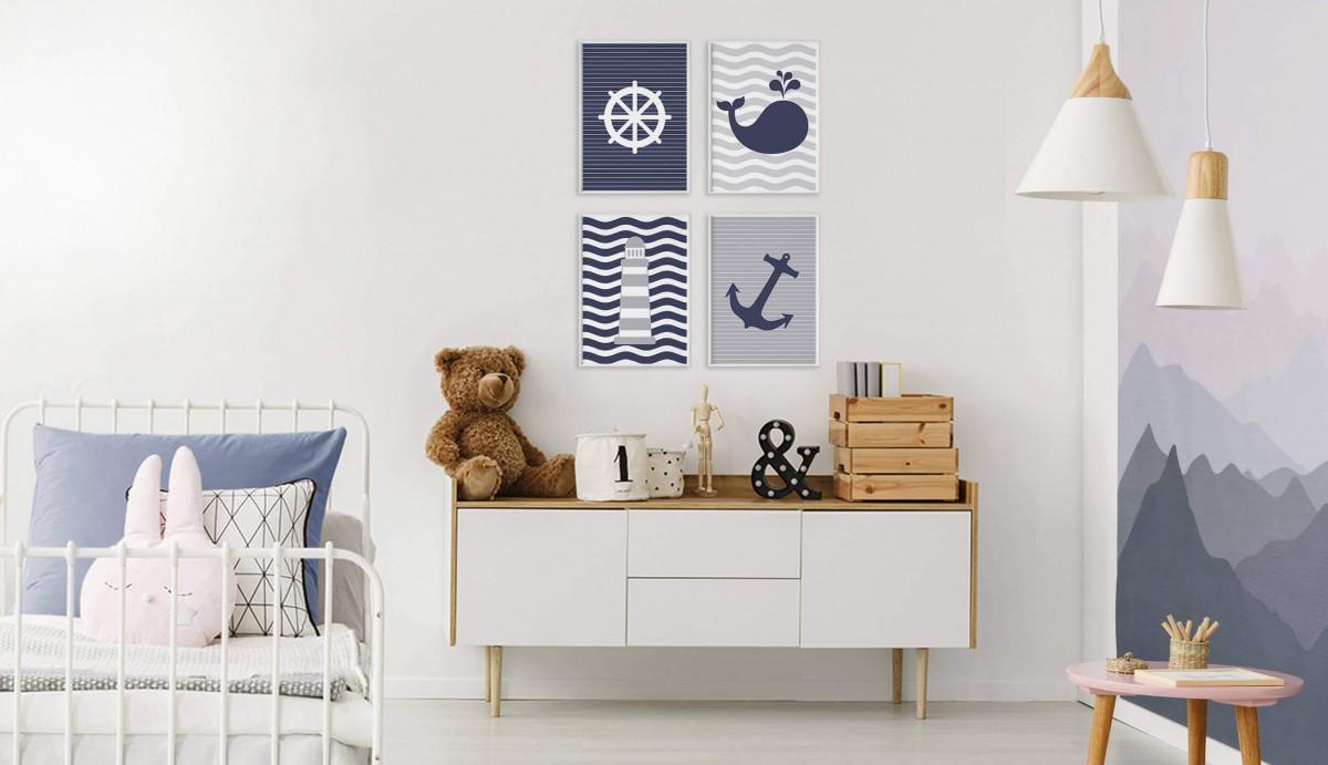 Brezplačni set slik za otroško sobo: Gremo na morje
